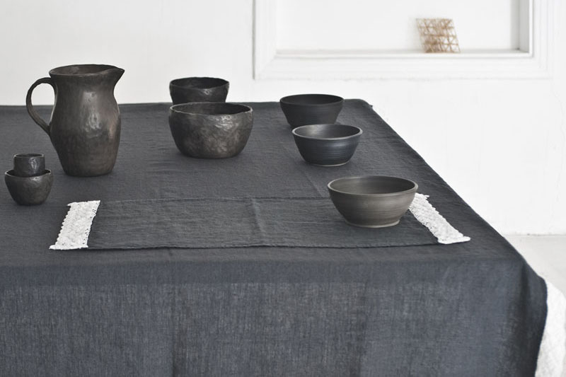 Black Ceramics Table