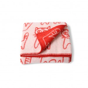 BLANKET CATS RED 2