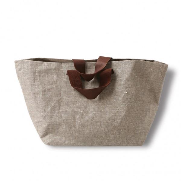 Linen bag RIIJA front - natural