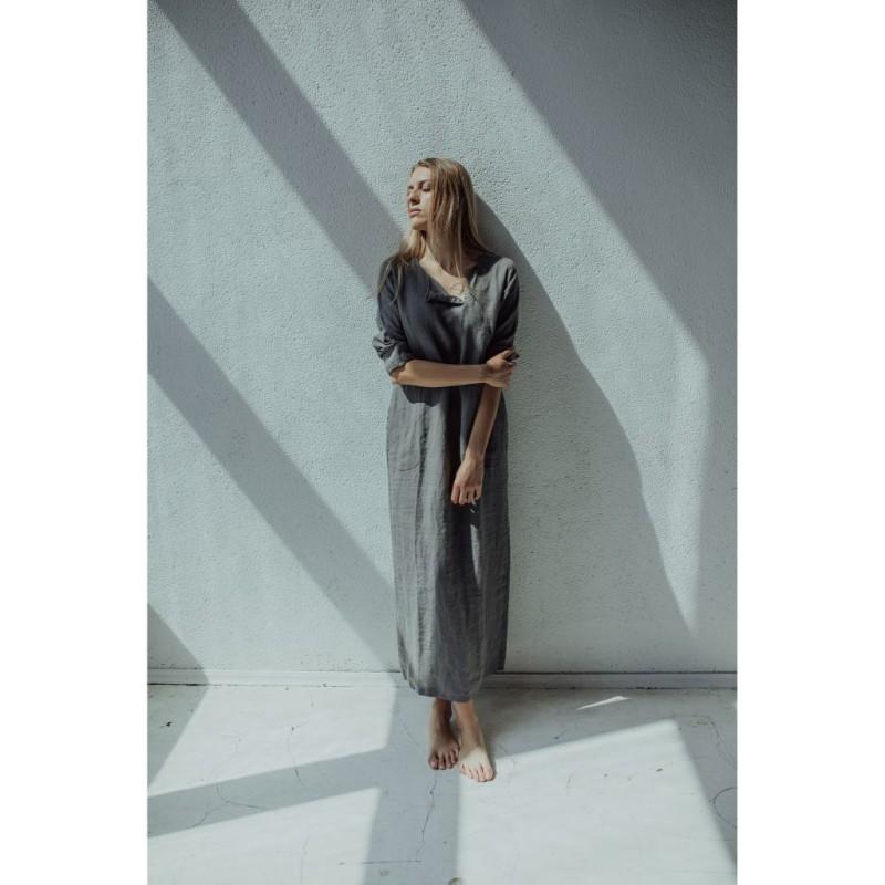 riija-linen-dress-long-gray