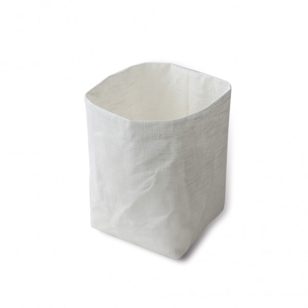 White Linen Basket