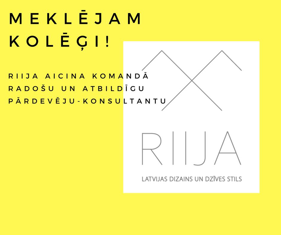 RIIJA AICINA KOMANDĀ PĀRDEVĒJU - KONSULTANTU