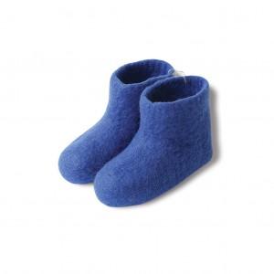 Felt booties - blue