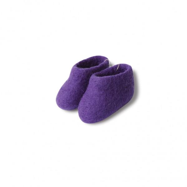 Felt booties - purple