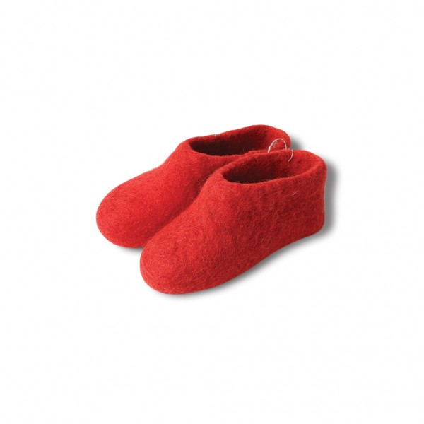Felt booties - red