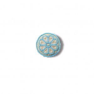 Latvian traditional brooch - light blue