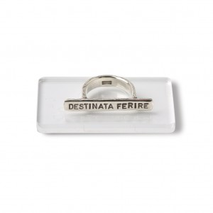 Silver plain ring with Latin inscription 2