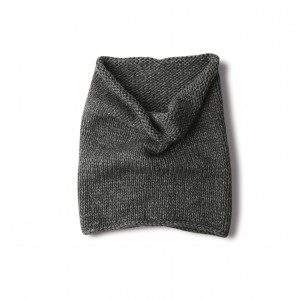 Wool snood - dark grey