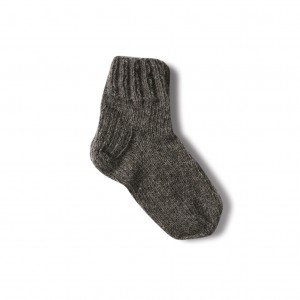Wool socks for kids - dark grey