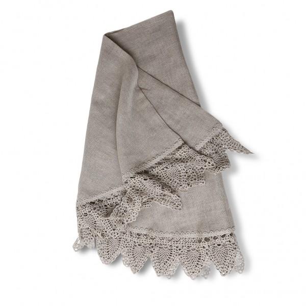 Table cloth light grey round