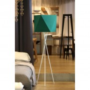 Tripod steel floor lamp green