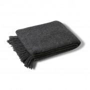 Wool throw dark grey