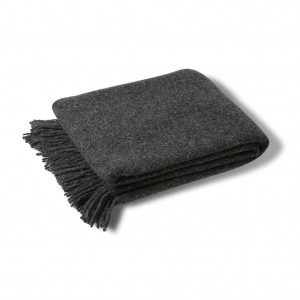 Wool throw dark grey