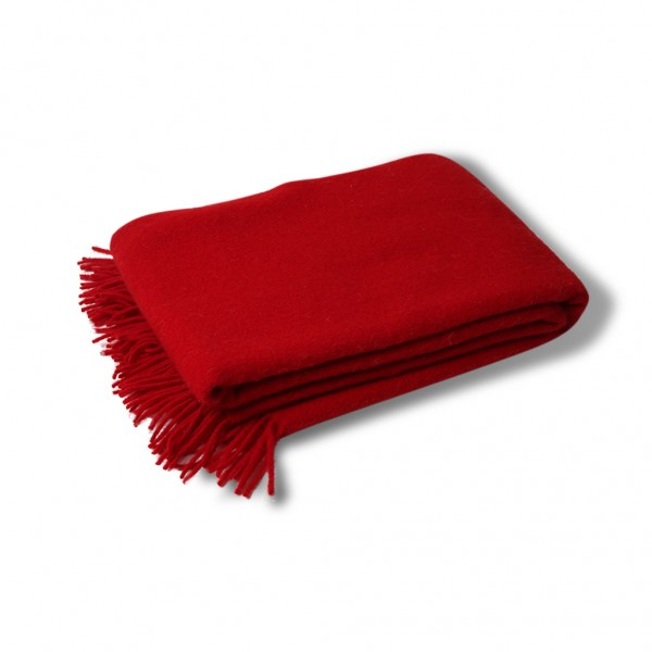 Wool throw red