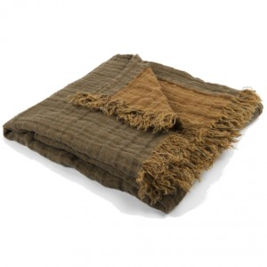linen throw brown