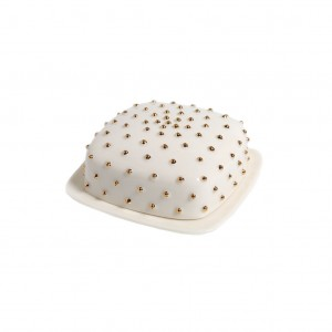 BUTTER DISH GOLDE