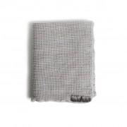 RIIJA waffle linen bath gray