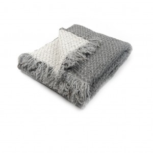 light gray linen throw